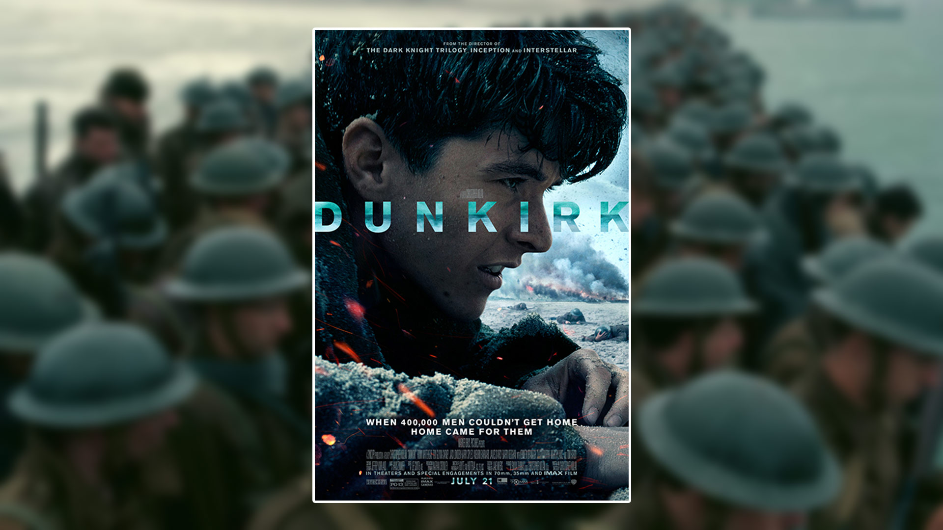 [Critique Film] Dunkirk – Une expérience visuelle et sonore signée Christopher Nolan