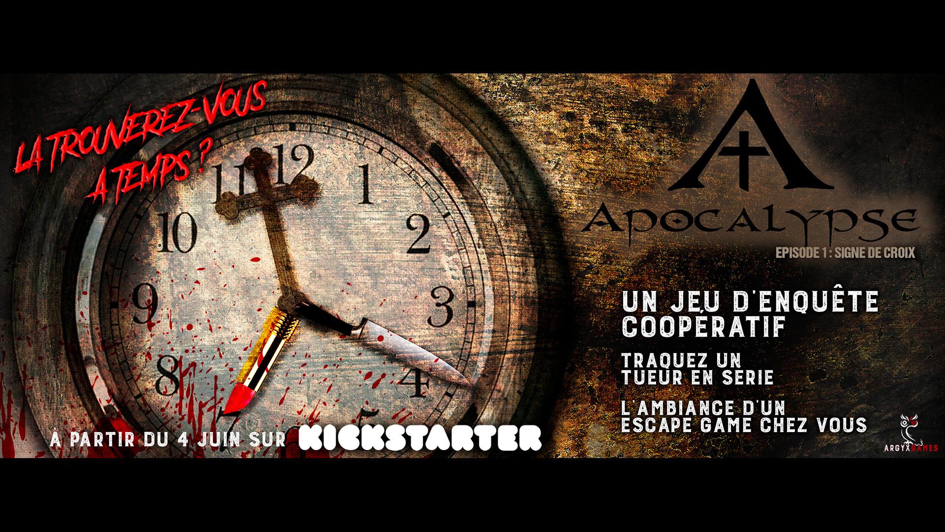 Apocalypse – Épisode 1 : Signe de croix arrive sur Kickstarter